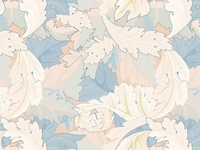 Floral pattern inspired by William Morris's design