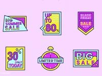 Funky & Fun Sale Badges