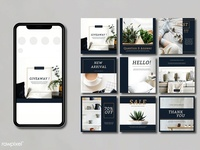 Minimal instagram template design
