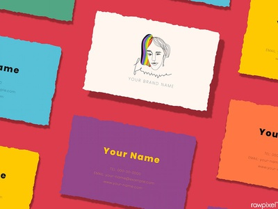 LGBTQ & Pride Month Theme Business Card Design
