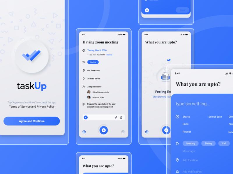 taskUp - Task Managment concept app todo app task todo