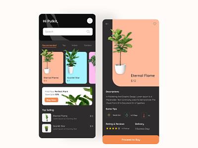 Plants App Design mobileapplication figma uidesign plants app plants flat app ux ui design