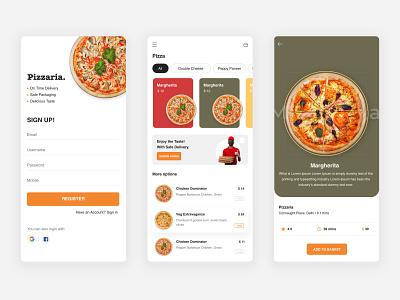 Pizza Delivery App adobe xd web design pizza ui minimal design ui design pizza food foodui flat figma ui design app