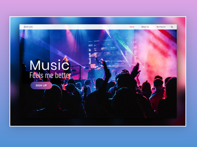 Music Band Landing Page Design web design agency performance music show clean design colors music player ux design ui design band bright colors web design music website music app muisc design