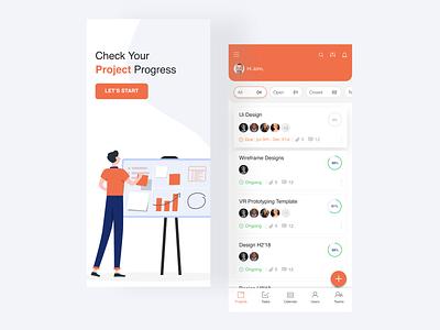 Task management - App Design admin design adobexd task management app task management task web design ui design app design