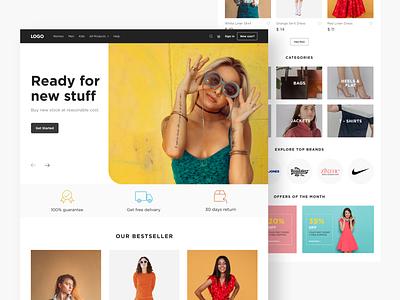 Ecommerce Website website design adobexd ecommerce ecommerce design website minimal design web design ui design design