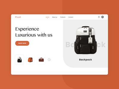 Ecommerce Website Design product design landingpage typogaphy bags ecommerce business fashion app fashion brand ui  ux design ecommerce website design ecommerce app ecommerce ui design design