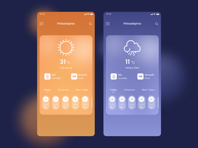 Weather App Design weather app weather minimal design ui ux design app ui design design
