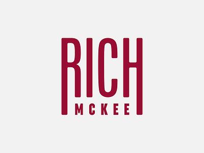 Rich McKee Guitars | Logo Concept graphic designer graphic design designer gráfico visual design brand design identity branding branding concept brand identity branding and identity branding design branding brand identity design identity visual identity logos logo design wordmark logotype logo