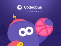 Debut Dribbble ui ux character octopus cartoon codeopus first shoot debut