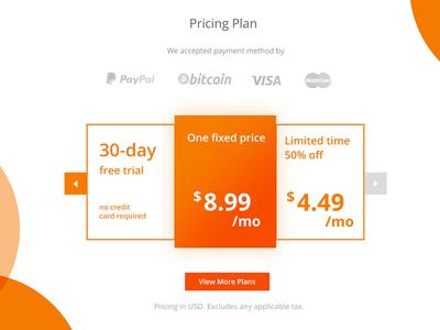 Free Pricing Plan Table