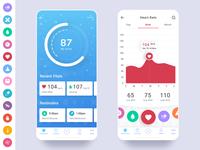 Health App With Original Iconography