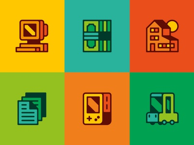 General Icons colour illustration iconography grid vector icon