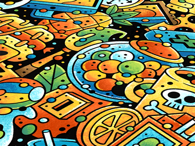 Everything - Preview doodle illustrator procreate detail drawing cartoon color colour grunge texture illustration