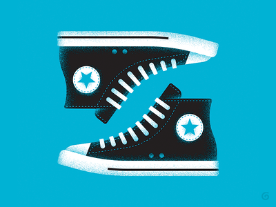 Iconic - Converse 3/3 series vector footwear iconic simple grit texture sneakers shoes illustration