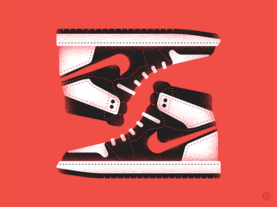 Iconic - Nike 2/3 series vector footwear iconic simple grit texture sneakers shoes illustration