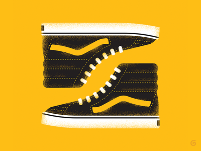 Iconic - Vans 1/3 series vector footwear iconic simple grit texture sneakers shoes illustration