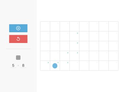 Checker Walker checker visualization animation minimal game