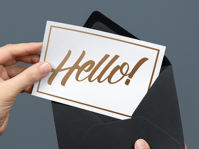 Hello! [FONT FREEBIE INSIDE] free font hand lettering letterhend calligraphy wordmark lettering script freebie font