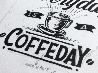 when typo happens illustration manual drawing hand lettering lettering typography typo coffee
