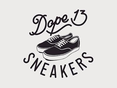 Dope13 - custom logo custom logo lettering illustration sneakers manual drawing