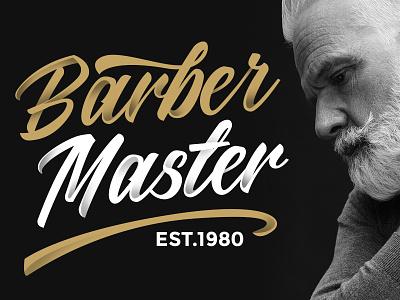 Barber Master manual drawing hand lettering retro illustration bicycle sans font script vintage lettering