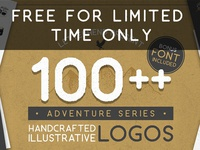 FREEBIES FOR LIMITED TIME ONLY font bundle free font hand drawing gritty grunge rough illustration adventure icon logo freebie freebies