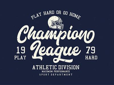 Football Logo Lettering opentype old school retro vintage letterhend marttabuck script lettering football logo