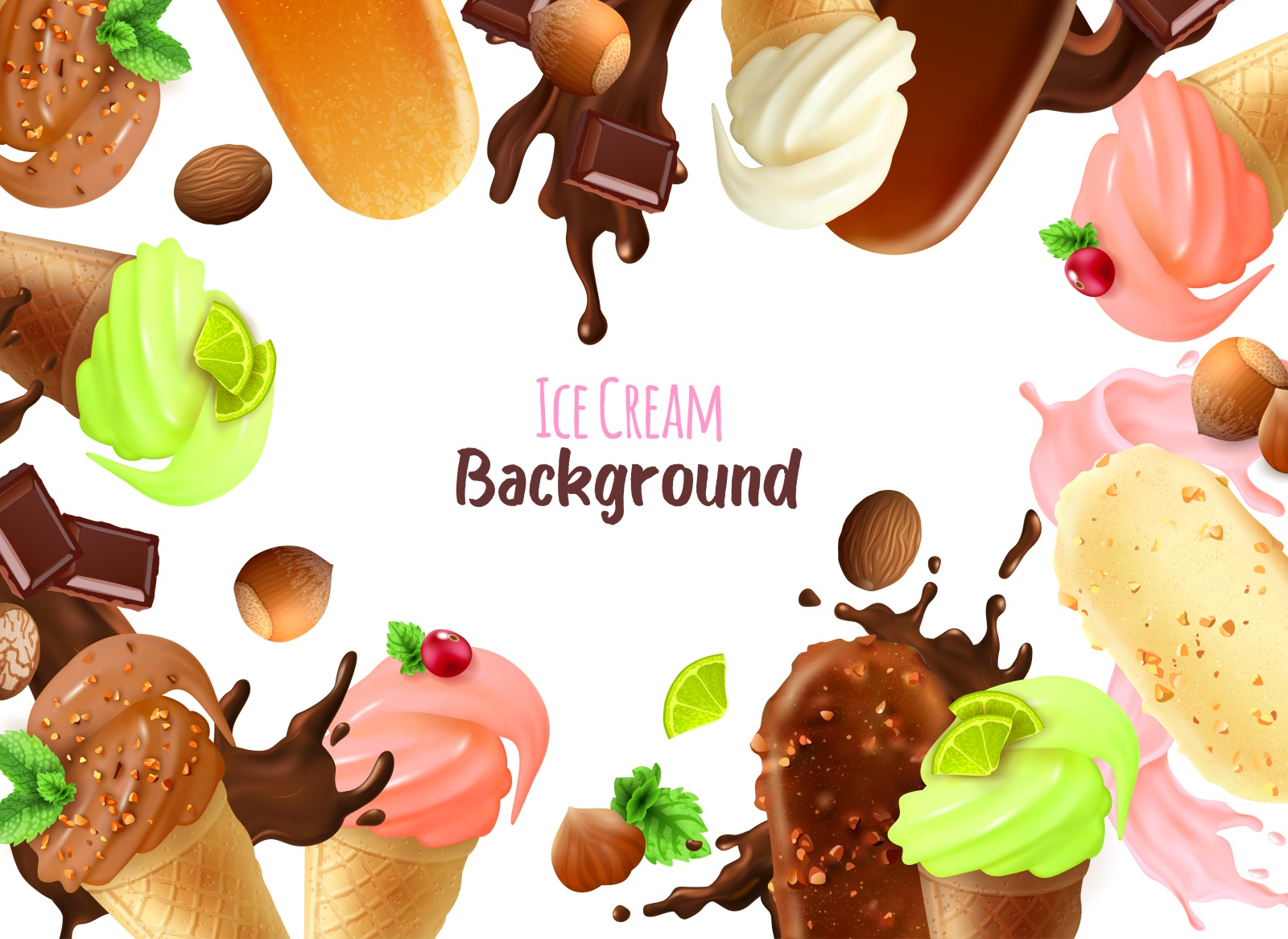 Ice Cream Background By Macrovector On Dribbble Download icons in all formats or edit them for your designs. ice cream background by macrovector on