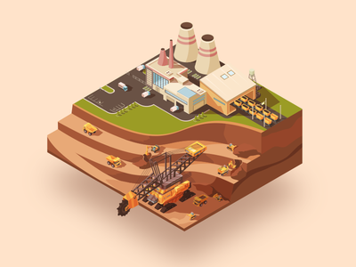 Vector mining ⛏ 🚧 illustration vector isometric mining