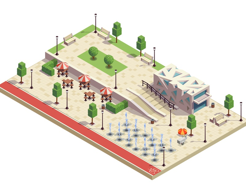 City Park Infrastructure By Macrovector Dribbble Dribbble