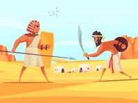 Ancient warriors fighting