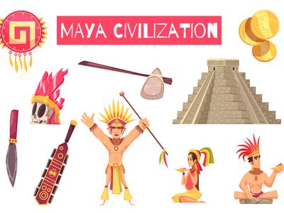 Maya civilization set