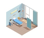 Medical equipment isometric composition
