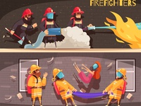 Two firefighter banners