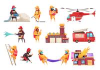 Fire department firefighter set