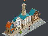 Medieval urban architecture