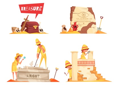 Archeology design concept
