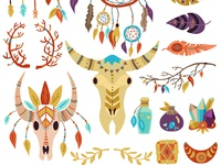 Boho decorative elements