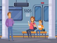Underground passengers composition