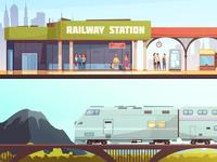 Railway horizontal banners