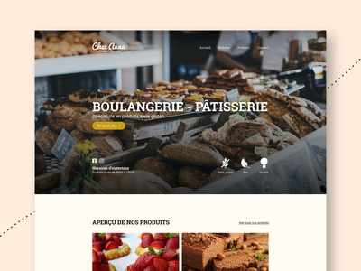 Chez Anna | Web UI concept
