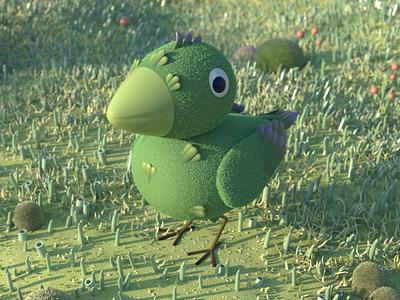 Green bird bird redshift c4d
