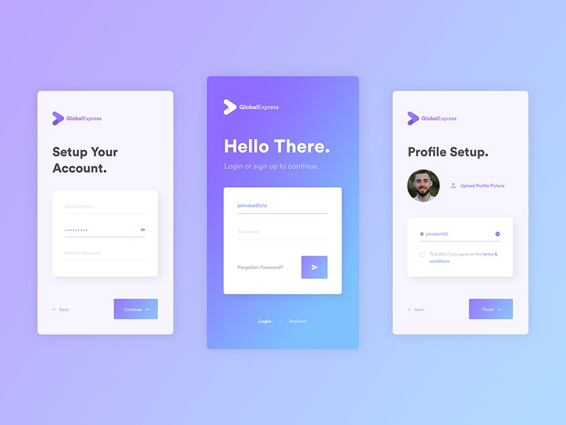 App Login UI Design