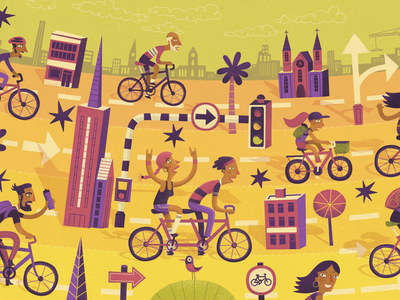 🚲 🚲 🚲 stevesimpson illustrated illustration ride city cycling bikes