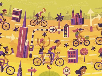 🚲 🚲 🚲 stevesimpson illustrated illustration ride city cycling bikes