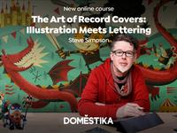 New course ✏️ hand lettering design record cover illustration domestika course