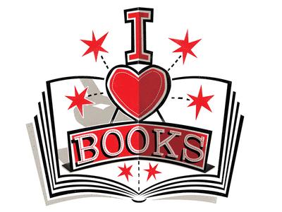 I heart books logo