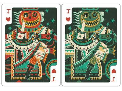 Jack of Hearts (kidnapped) cards deck heart jack lantern pumpkin illustration illustrated fun whimsical