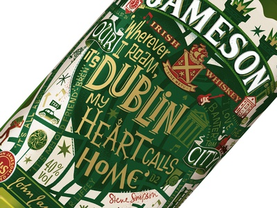 Jameson Limited Edition Bottle irish whiskey jameson packaging label dublin limited edition hand lettering hand drawn type
